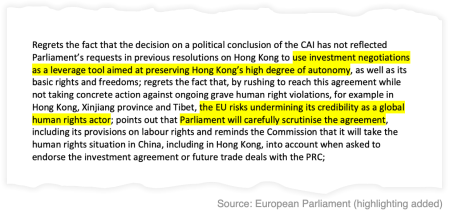 European Parliament resolution on the joint investment agreement