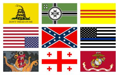 A sampling of flags seen at the Capitol insurrection