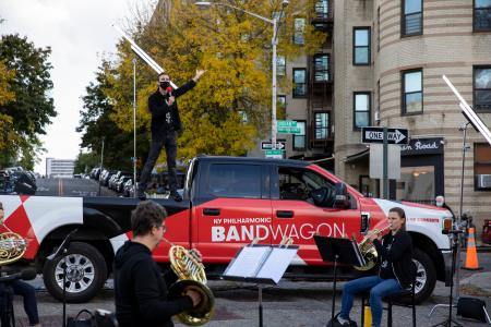 New York Philharmonic presents Bandwagon. Last concert of 2020, Sunday, October 18, 2020. Credit Photo: Erin Baiano