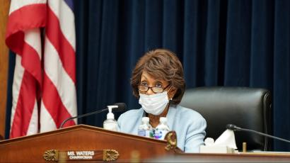 House Financial Services Committee chairwoman Maxine Waters.