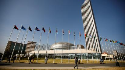 A general view of the AU in Addis Ababa in 2017.