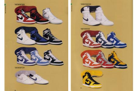 A shot of the catalogue of Nike Dunks from 1985