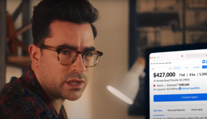 Dan Levy surfs Zillow in a spoof ad for real estate porn