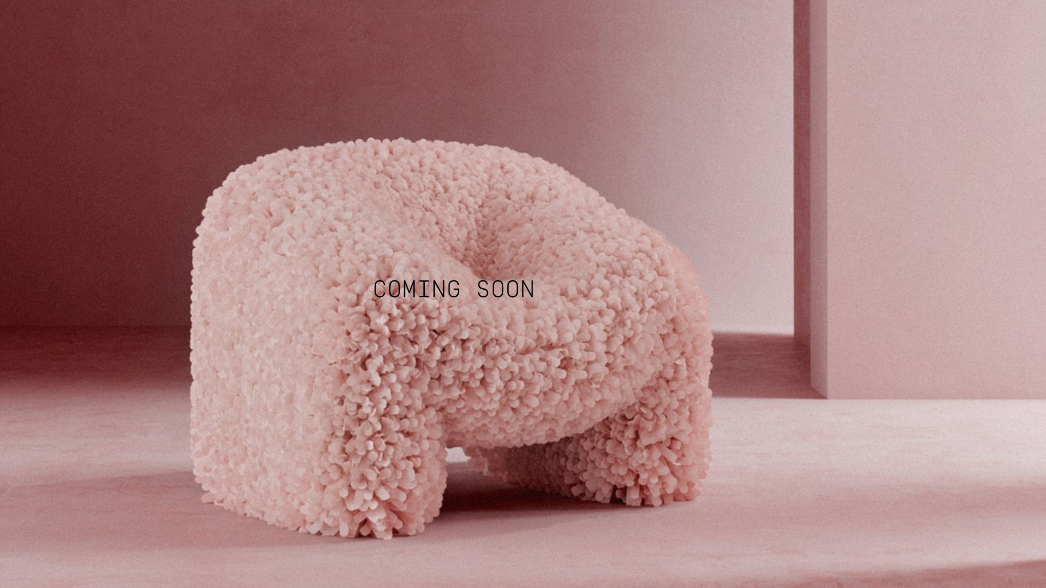 A rendering of a pink Hortensia armchair by Argentinian designer Andrés Reisinger.