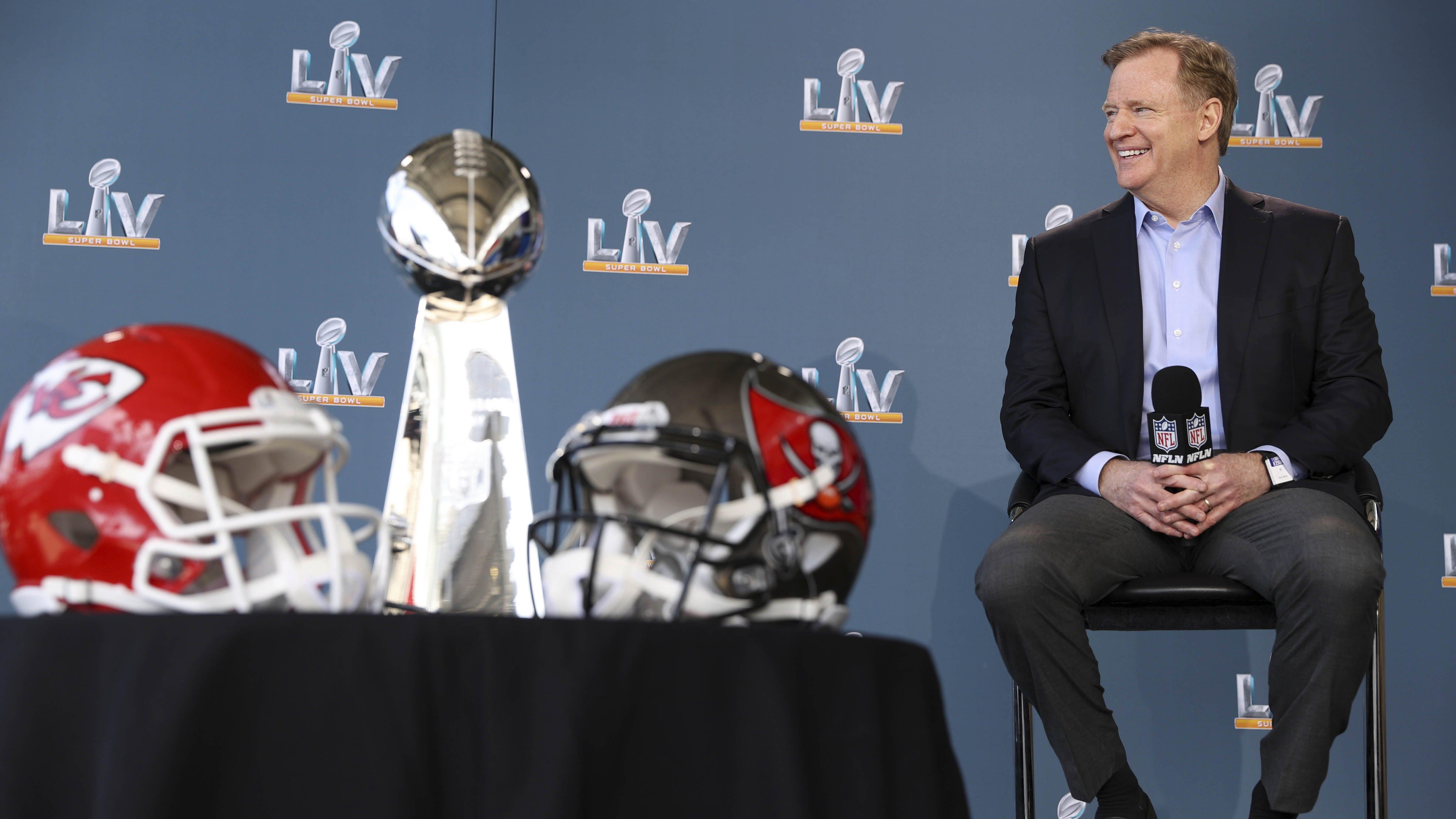 NFL: Super Bowl LV-Roger Goodell Press Conference