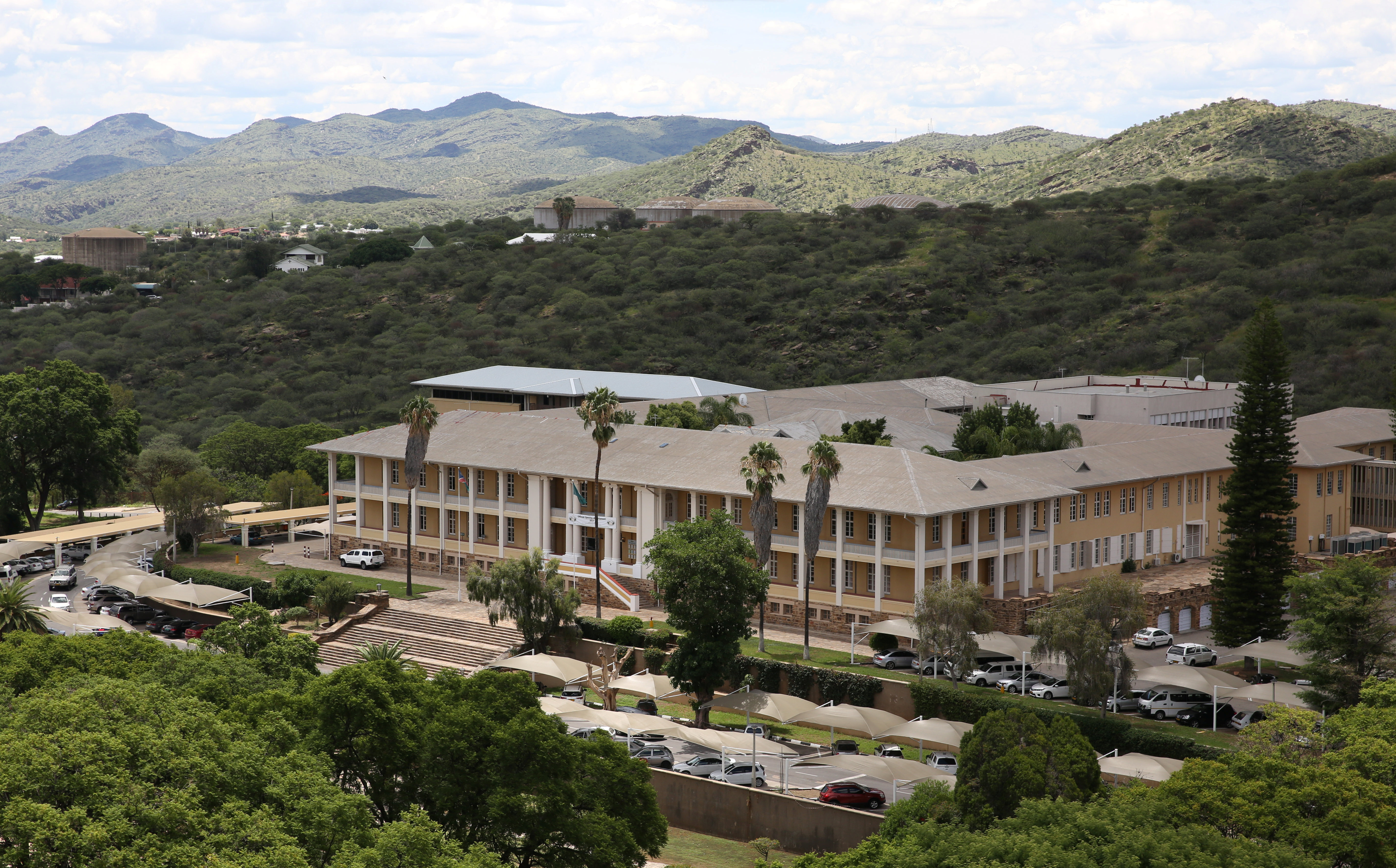 Namibia's parliament building is seen in Windhoek.