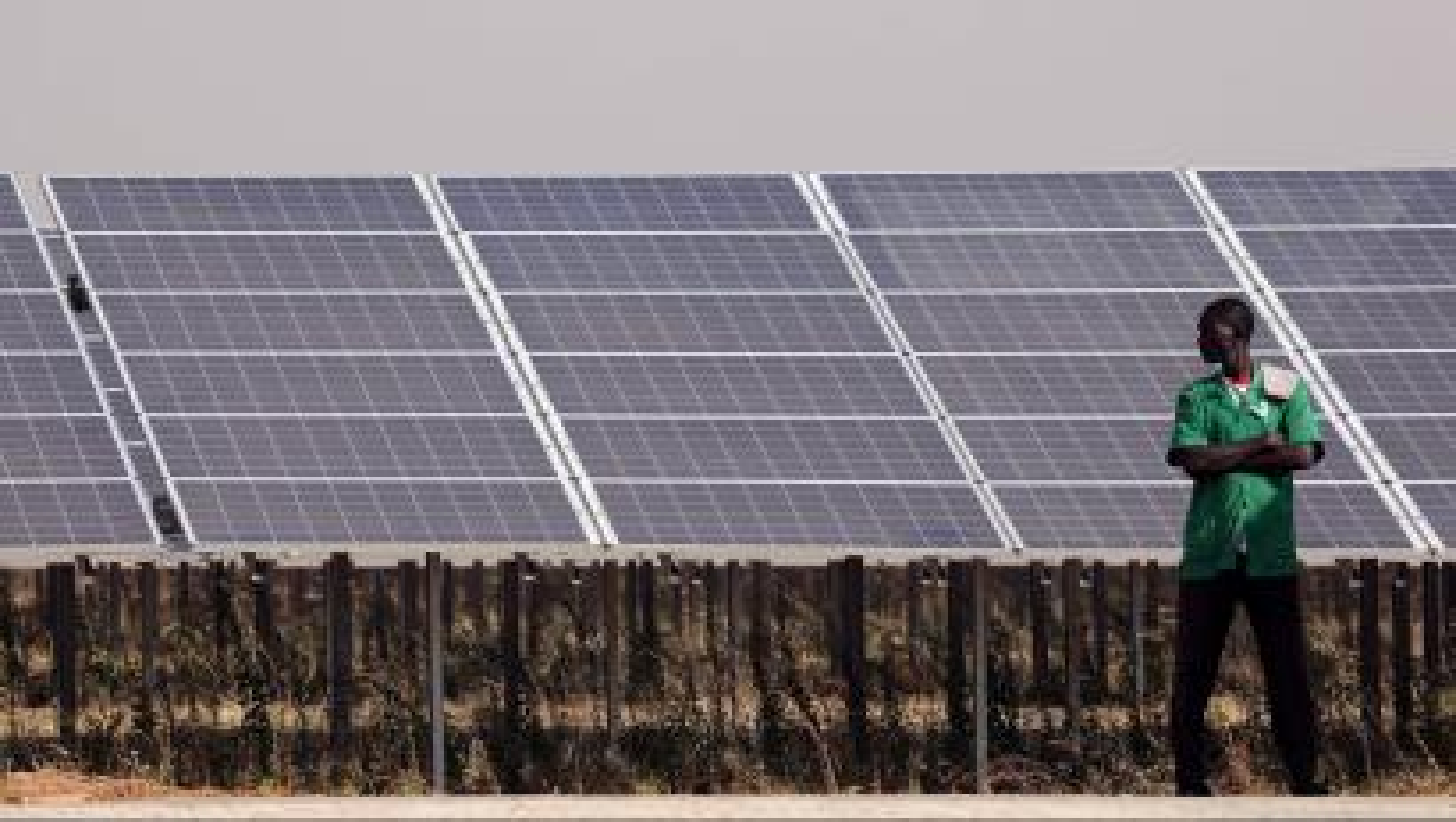 Solar panels are seen during the inauguration ceremony of the solar energy power plant in Zaktubi, near Ouagadougou, Burkina Faso, November 29, 2017