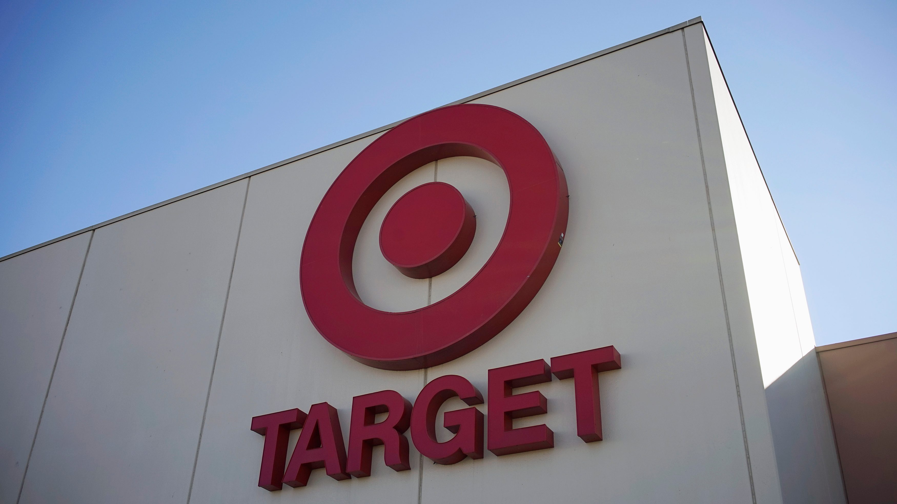 The sign outside the Target store is seen in Arvada, Colorado