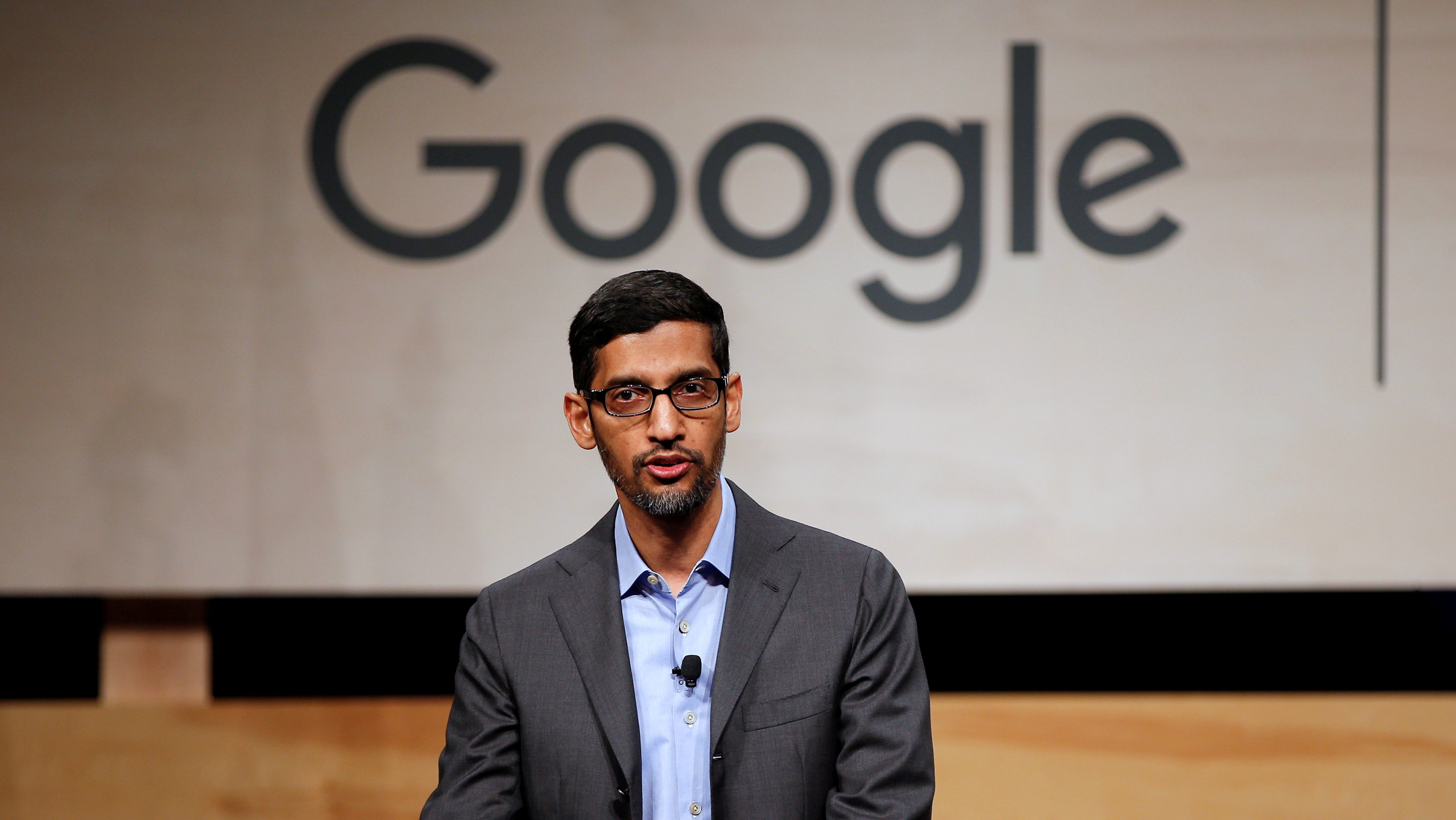 FILE PHOTO: Google CEO Pichai speaks at El Centro College in Dallas