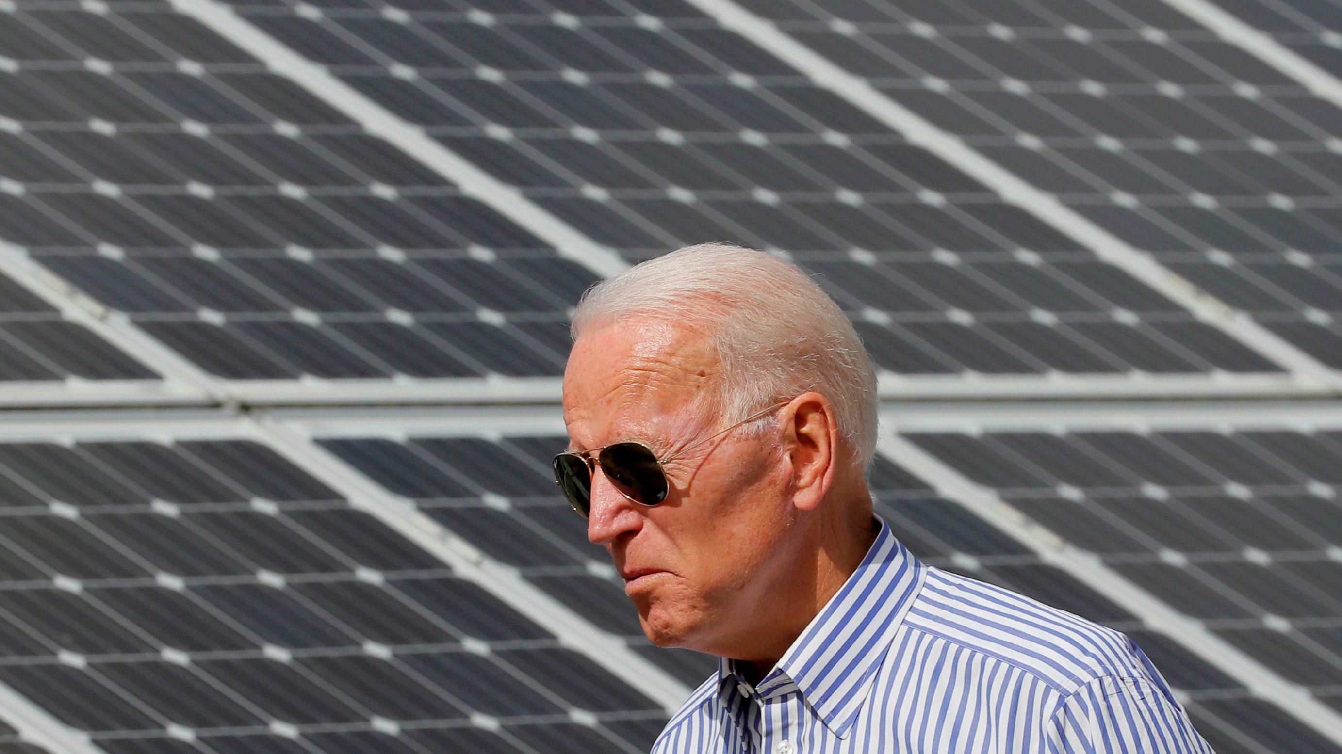 Joe Biden is working on climate change.