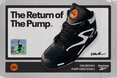 "A Reebok ad declares ""The Return of the Pump"" and shows the sneaker"