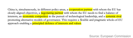 "An excerpt from the EU's 2019 ""Strategic Outlook"" on China"