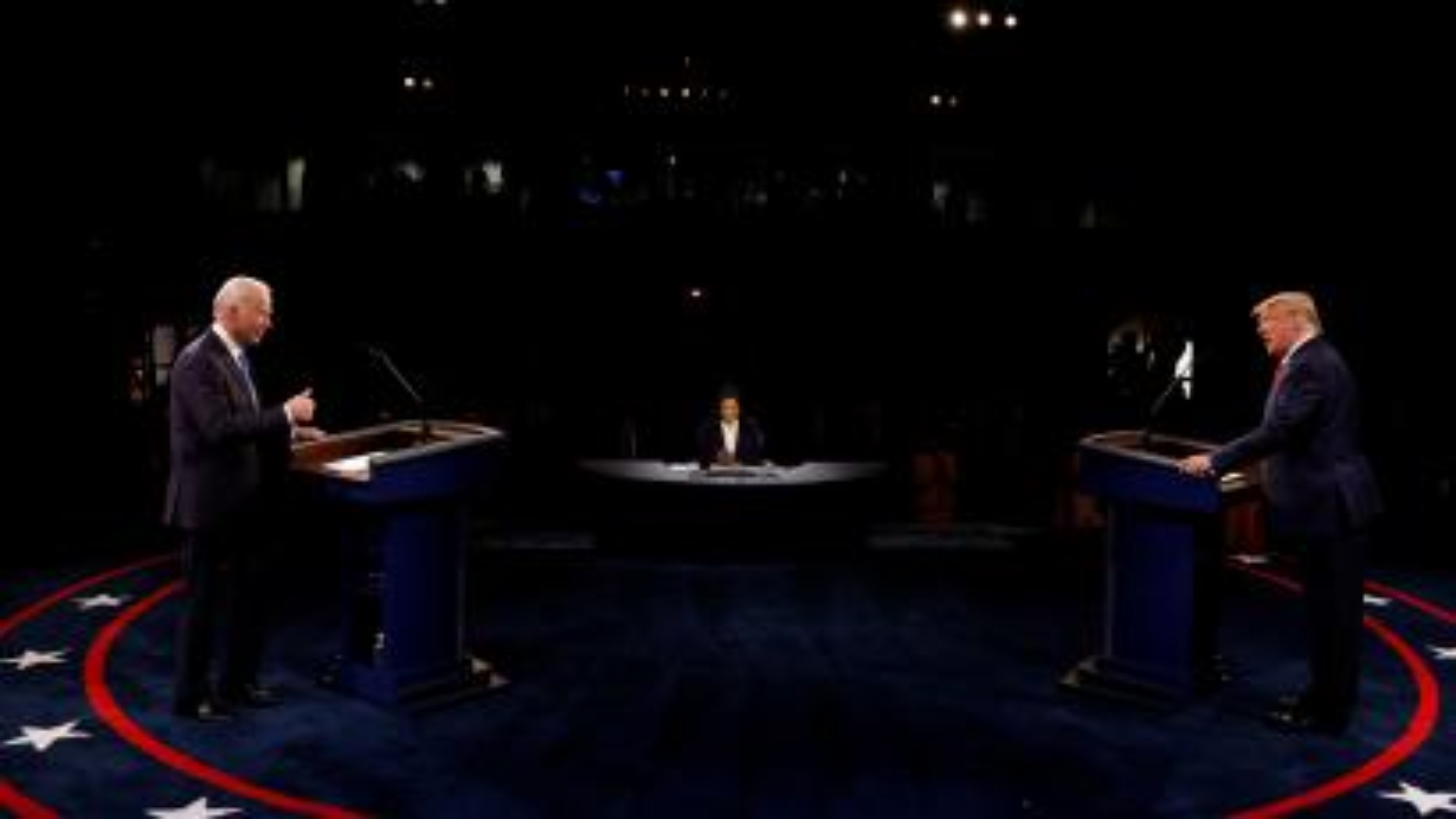 President Trump and Democratic presidential nominee Biden, October 2020