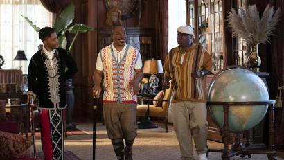 """Jermaine Fowler, Eddie Murphy, and Tracy Morgan have some fun in """"Coming 2 America."""""""