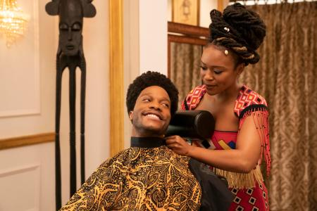 South African actress Nomzamo Mbatha has a break-out role in Coming 2 America as Mirembe, the love interest of King Akeem's son.