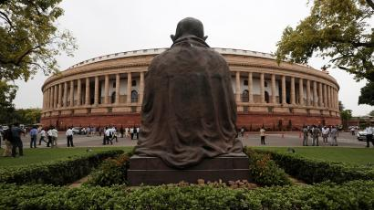 The Indian parliament building is pictured on the opening day of the parliament session in New Delhi, India, June 17, 2019.