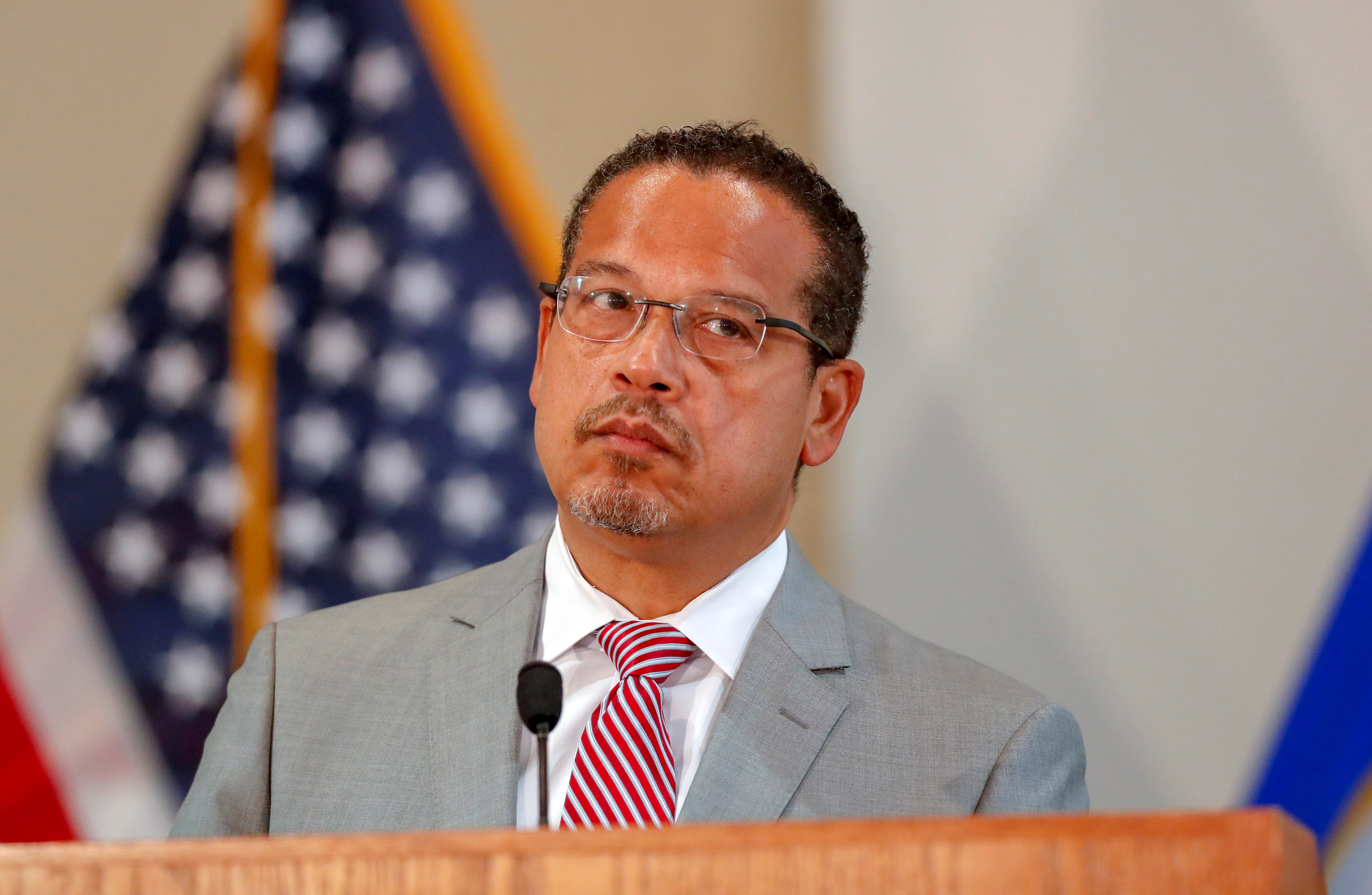 Minnesota Attorney General Ellison announces charges against former police officers involved in Floyd death