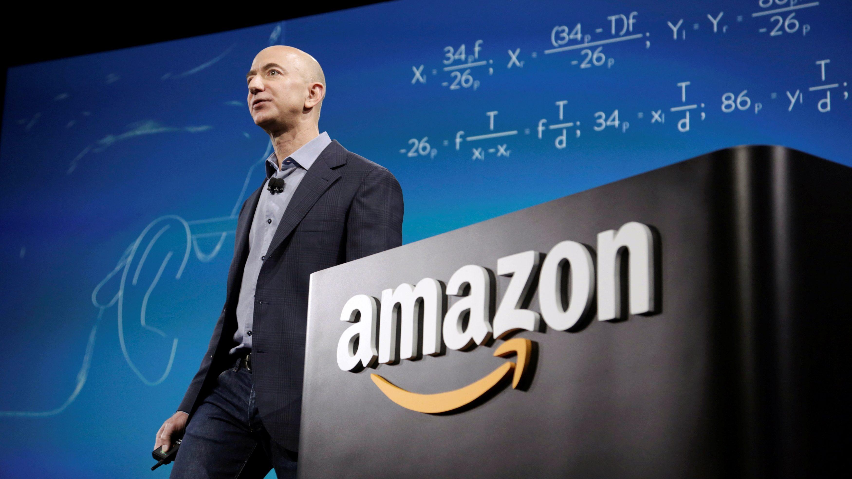 Amazon CEO Jeff Bezos at a company event
