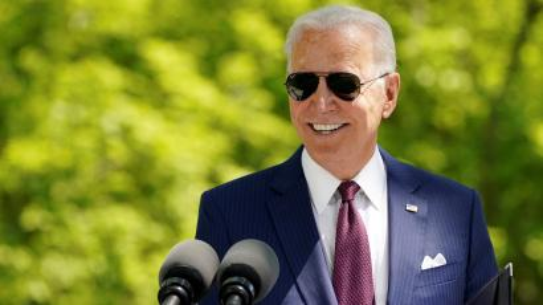 US president Joe Biden at a lectern
