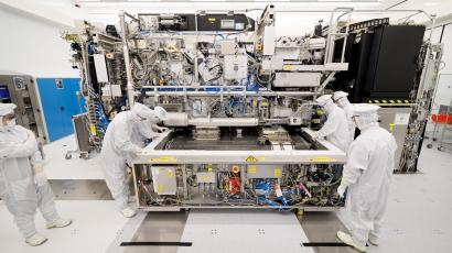 A clean room at ASML's factory in the Netherlands