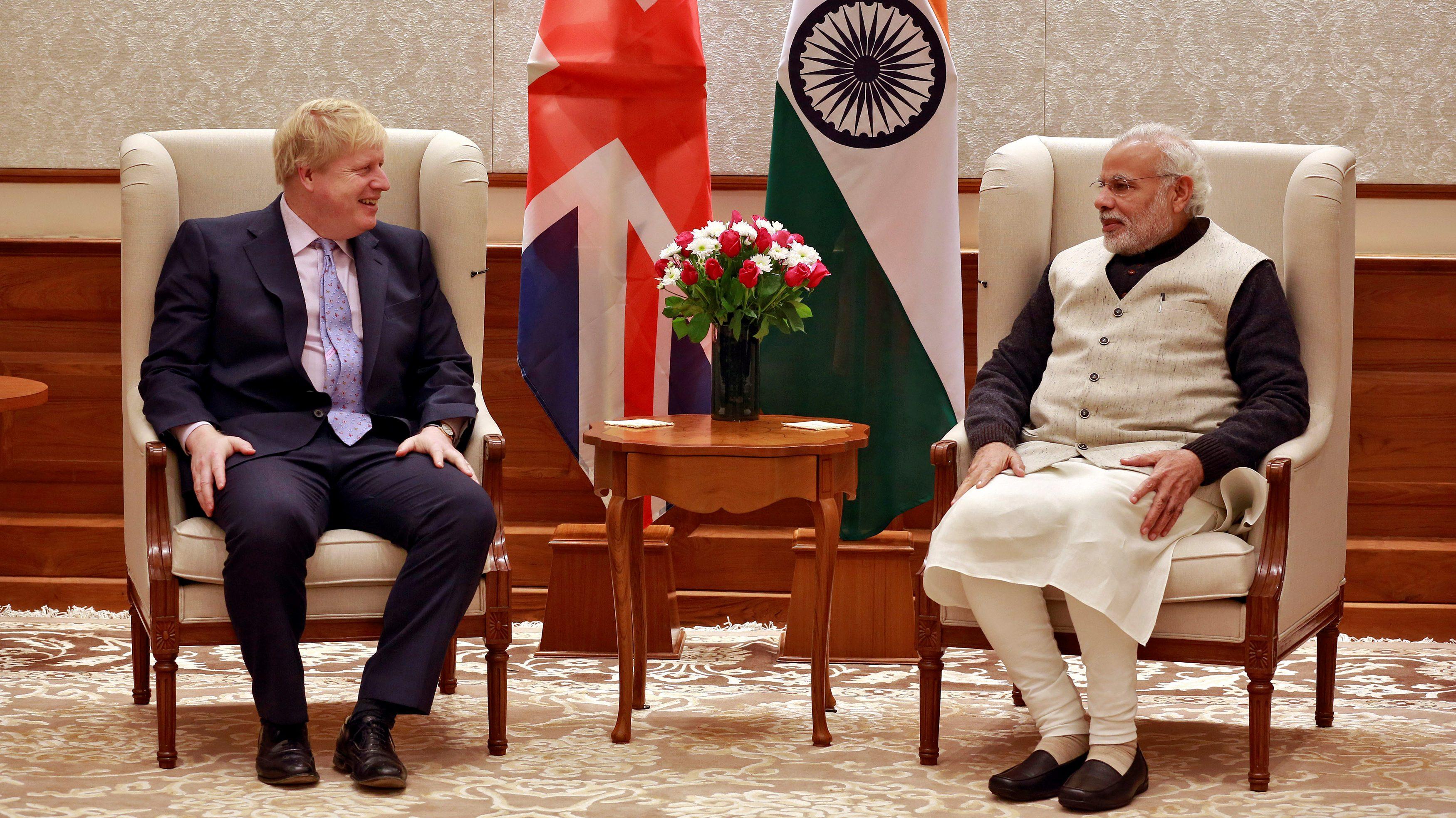 Boris Johnson and Narendra Modi speak