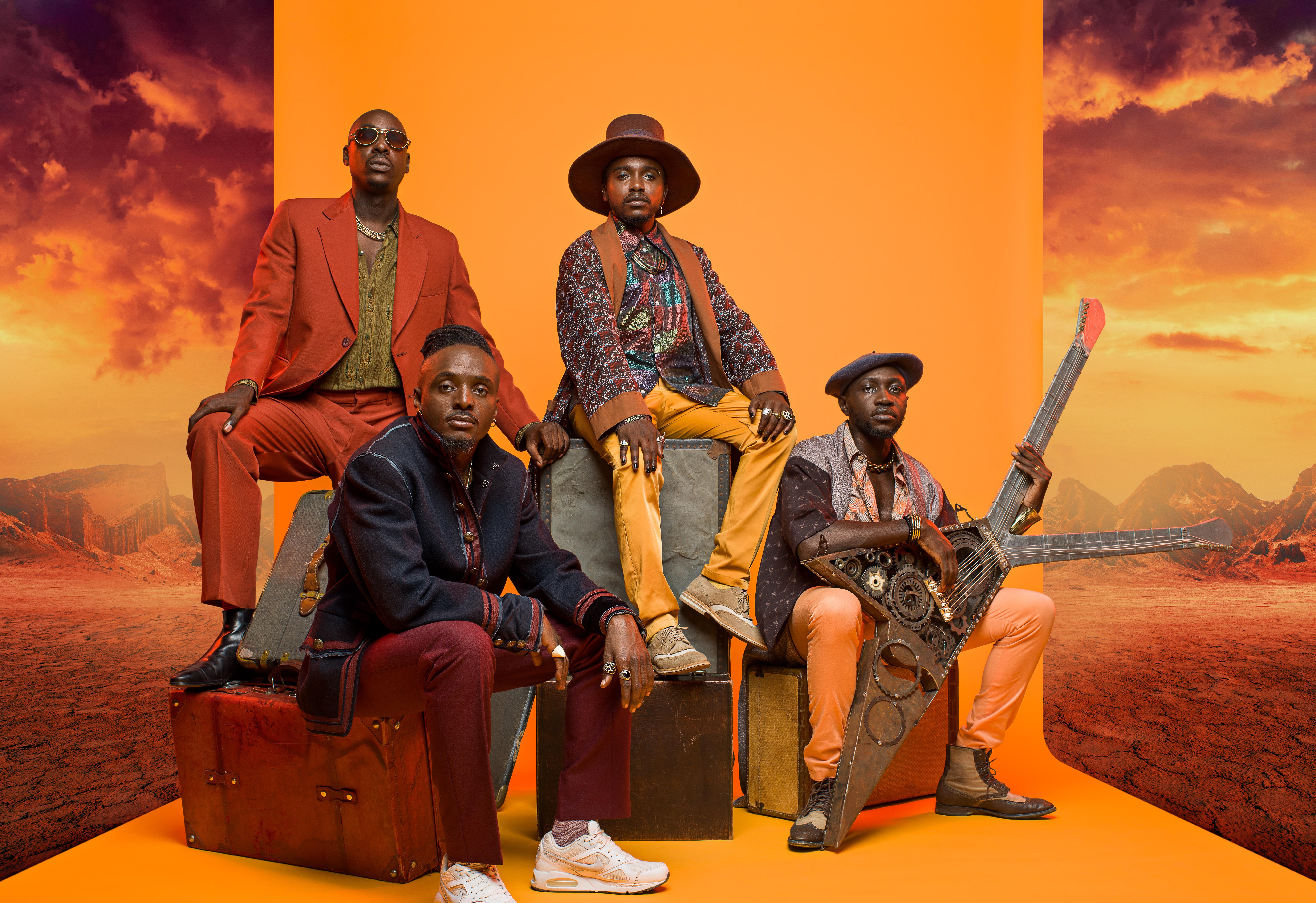 Kenyan Afropop band Sauti Sol.