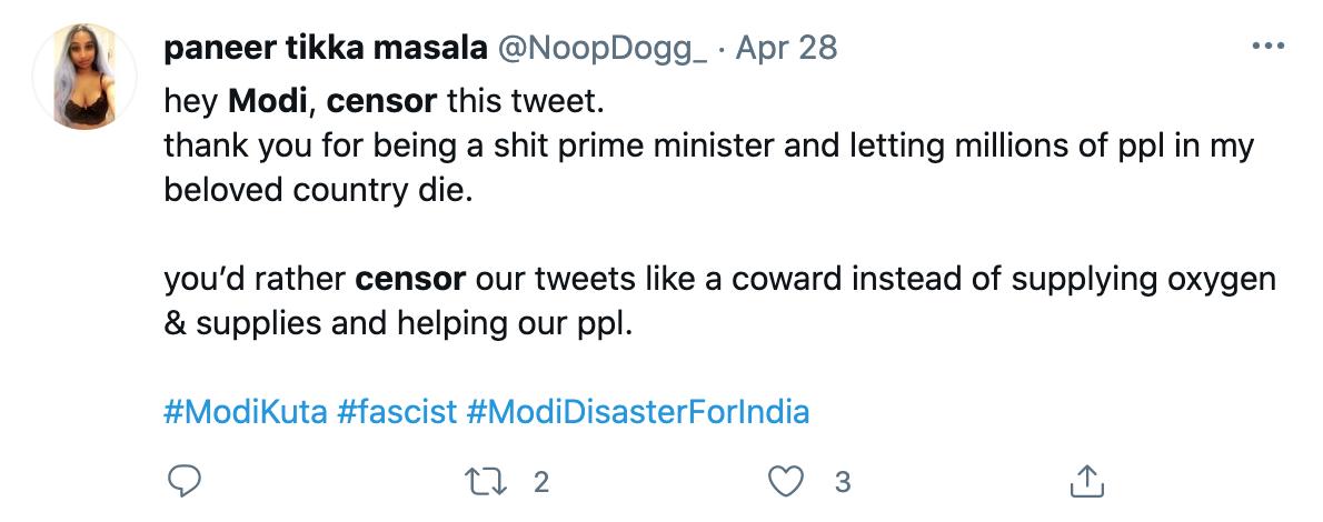 Modi censorship
