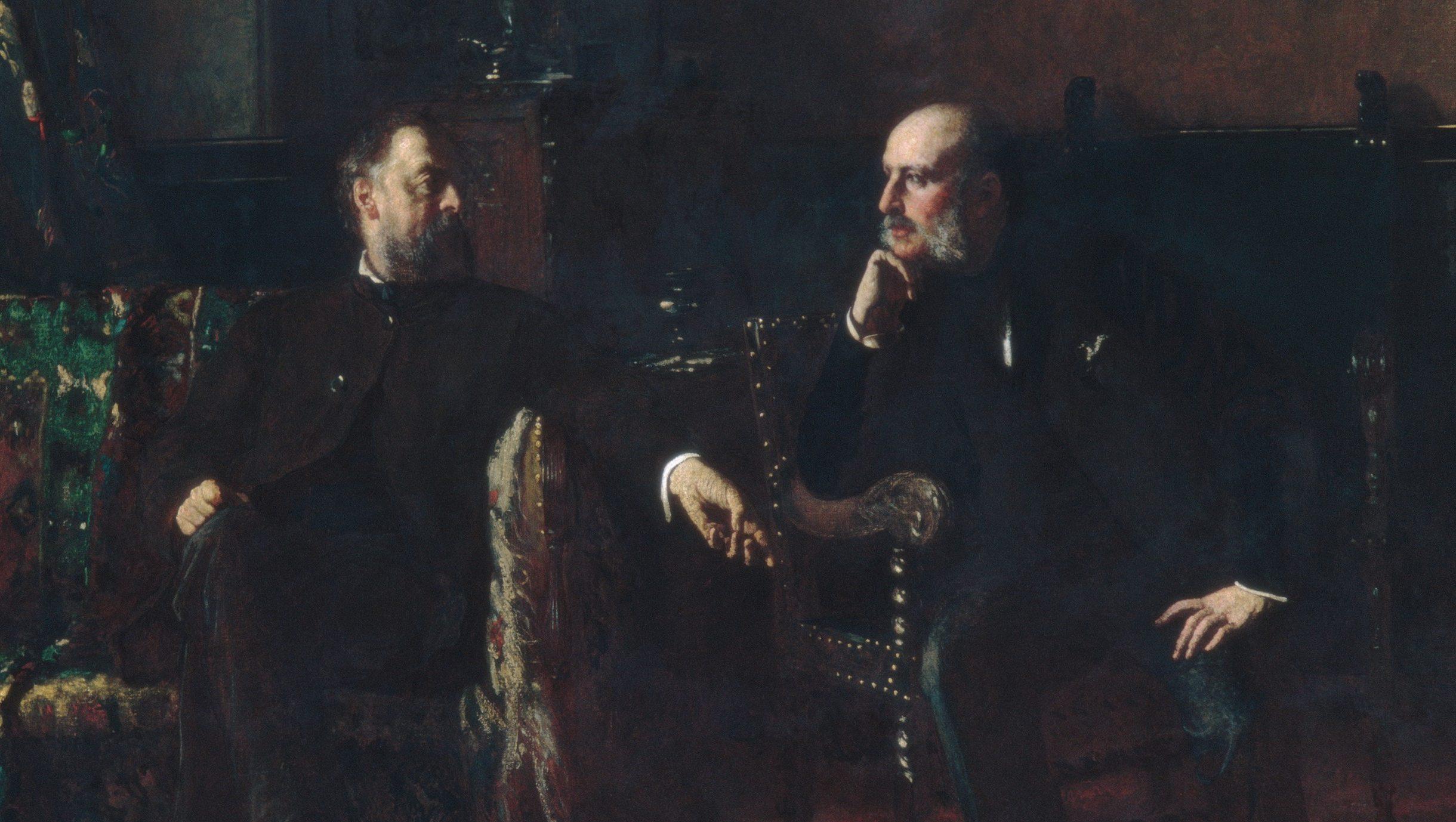 "Eastman Johnson's painting ""Funding the Bill"""