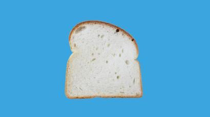 A slice of pan white bread