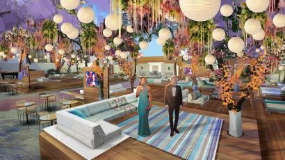 A rendering of the set for the 93rd Academy Awards released in Los Angeles