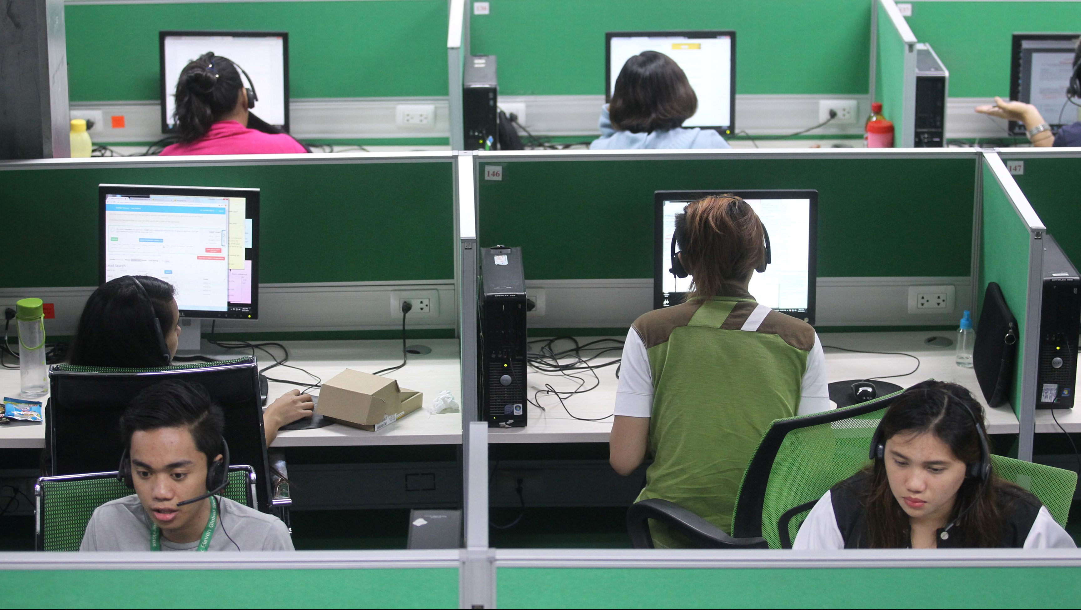 A call center in the Philippines