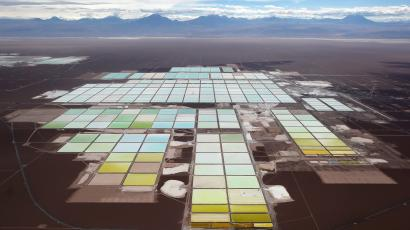 The Soquimich (SQM) lithium mine in Chile.