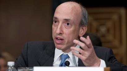 Gary Gensler testifies at a Senate Banking, Housing and Urban Affairs Committee hearing on Capitol Hill July 30, 2013.