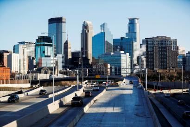 Skyline view of the city of Minneapolis, Minnesota.