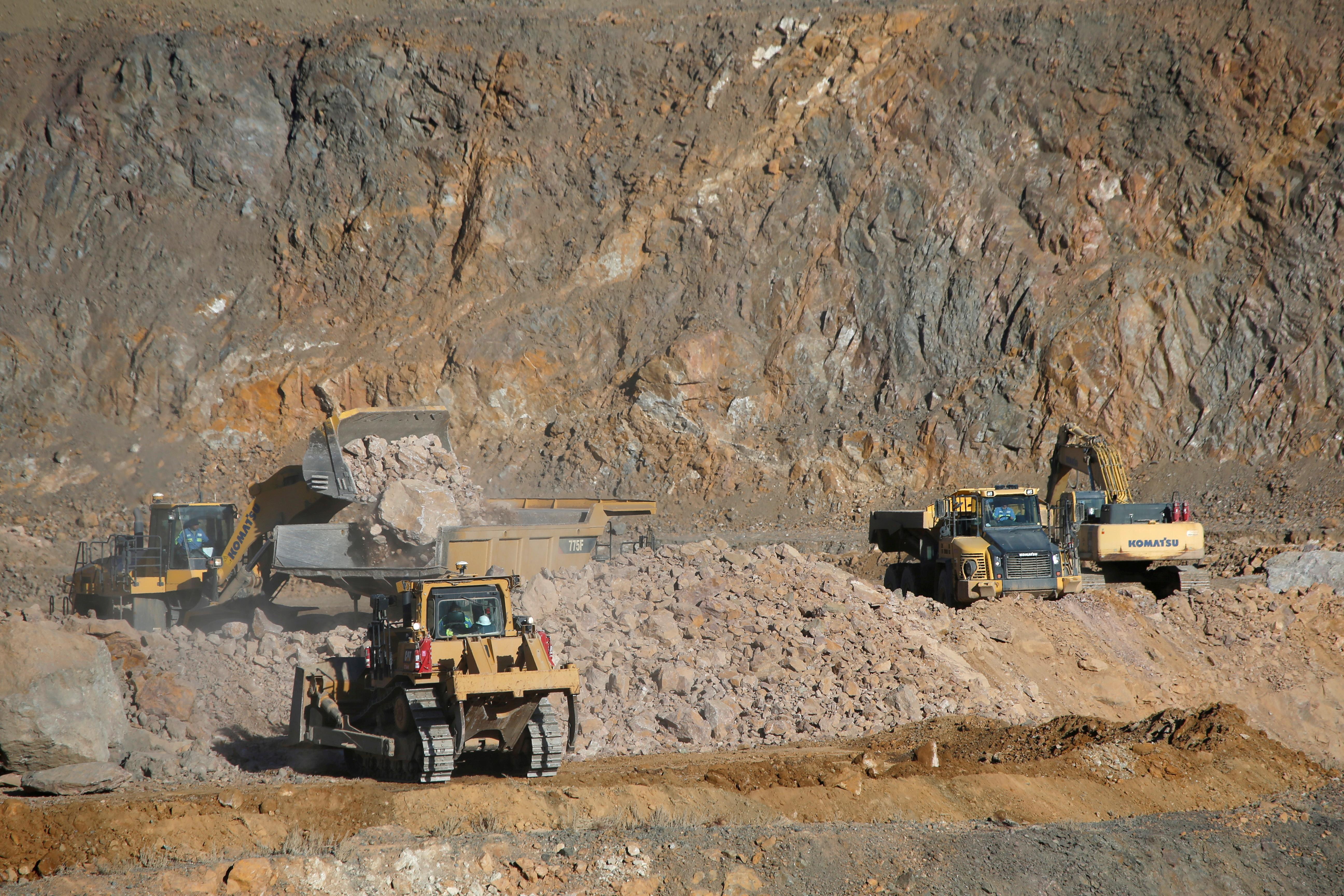 The MP Materials rare earths mine in California, US.