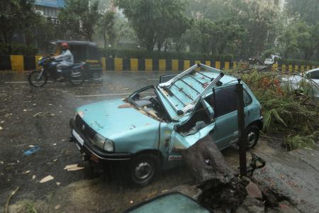 Damage from heavy rains and winds due to Cyclone Tauktae in Mumbai