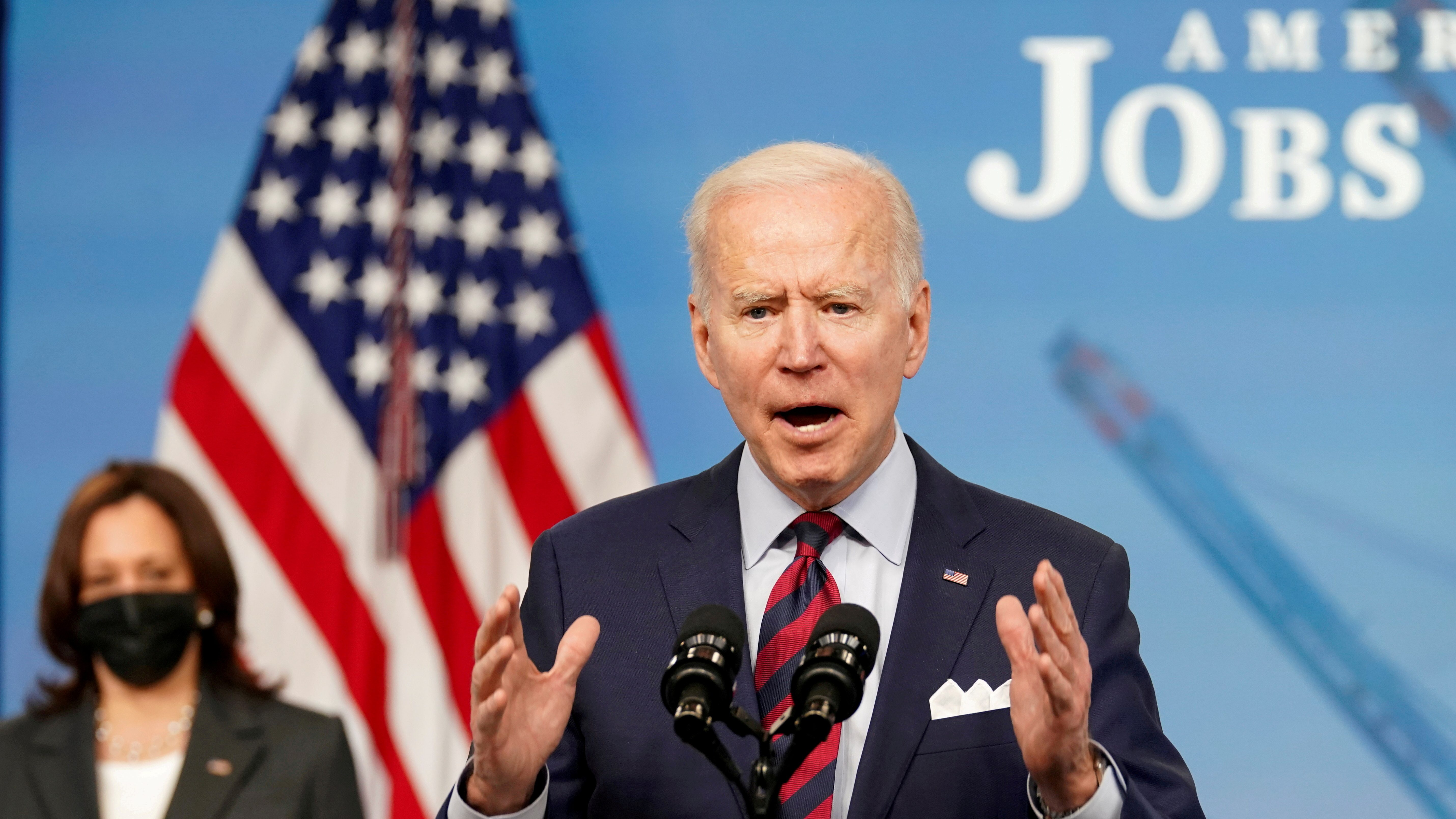 President Biden speaks about jobs and the economy at the White House