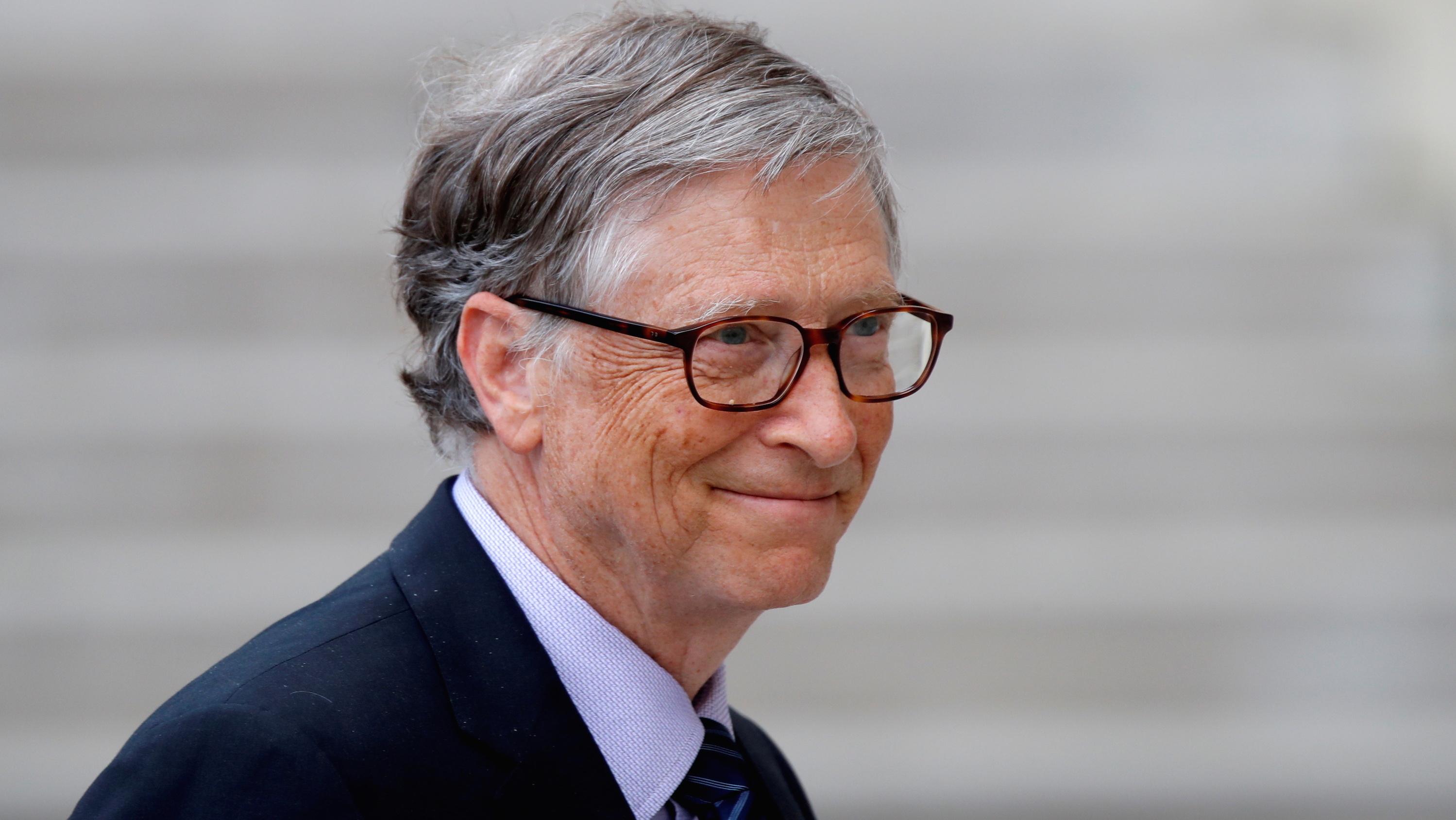 Bill Gates wearing a suit
