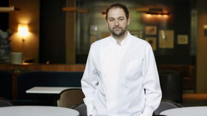 Eleven Madison chef and owner Daniel Humm in his restaurant