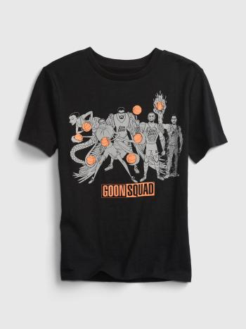 """The """"goon squad"""" from the new Space Jam movie is pictured on the front of a t-shirt"""
