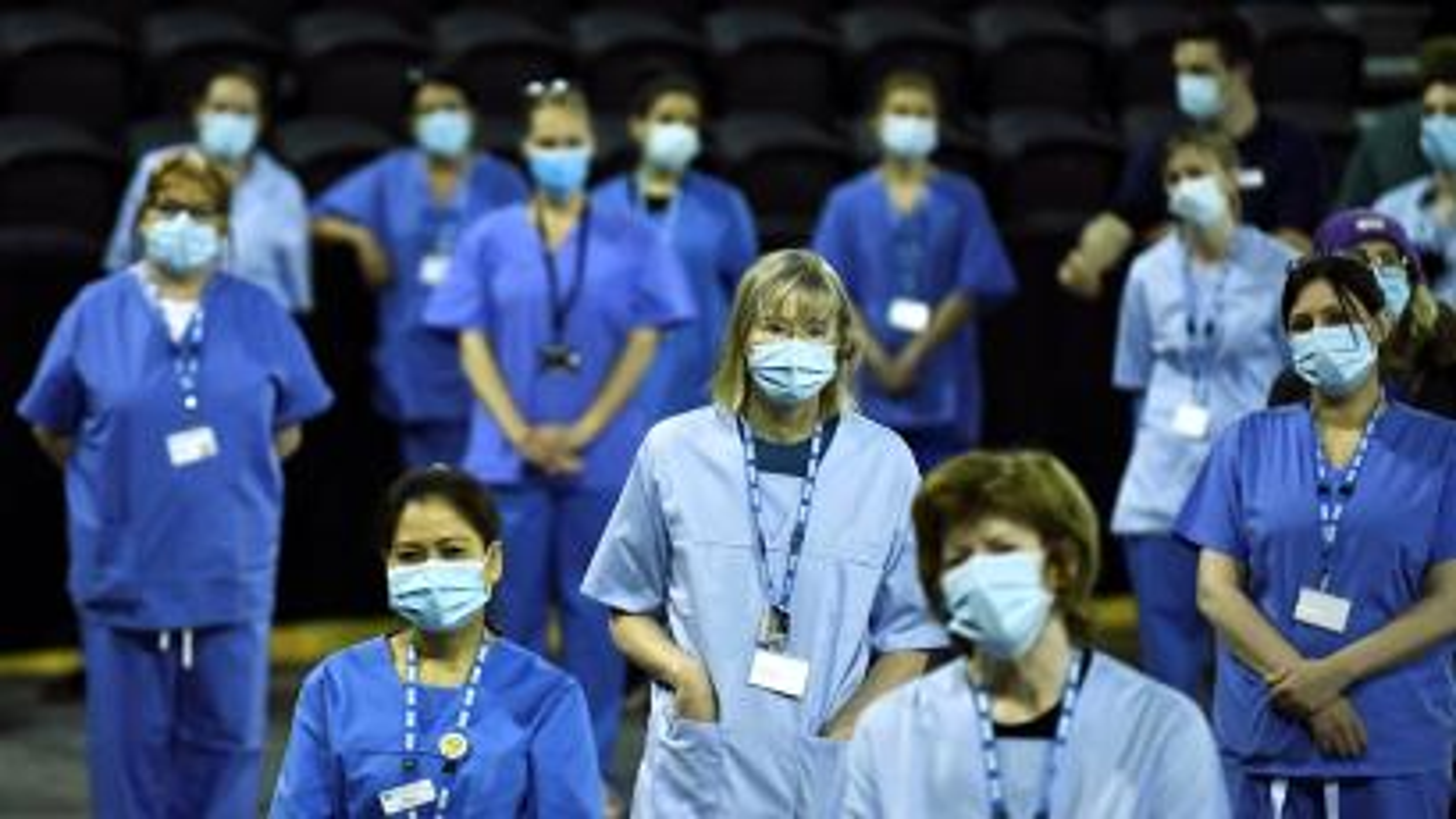 Medical staff discuss vaccines in Northern Ireland