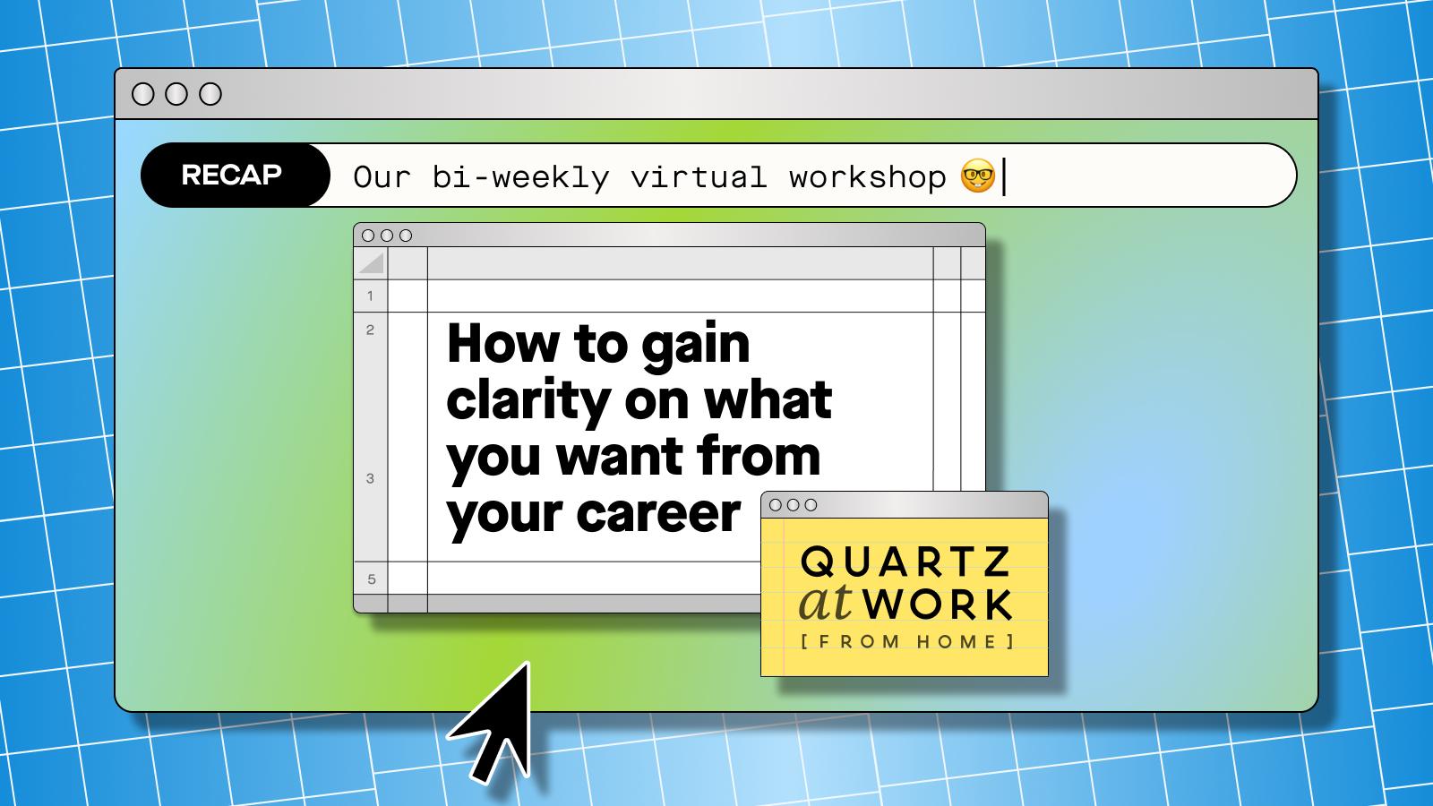 Quartz at Work (from home) workshop recap logo