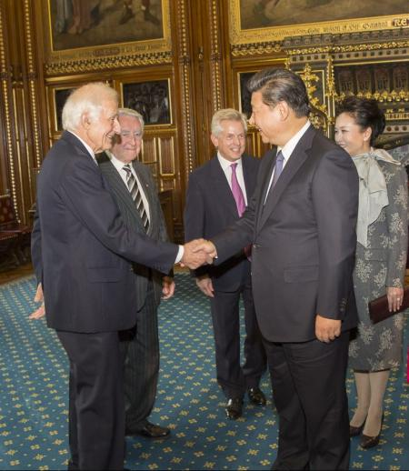 Richard Graham with Xi Jinping in Parliament