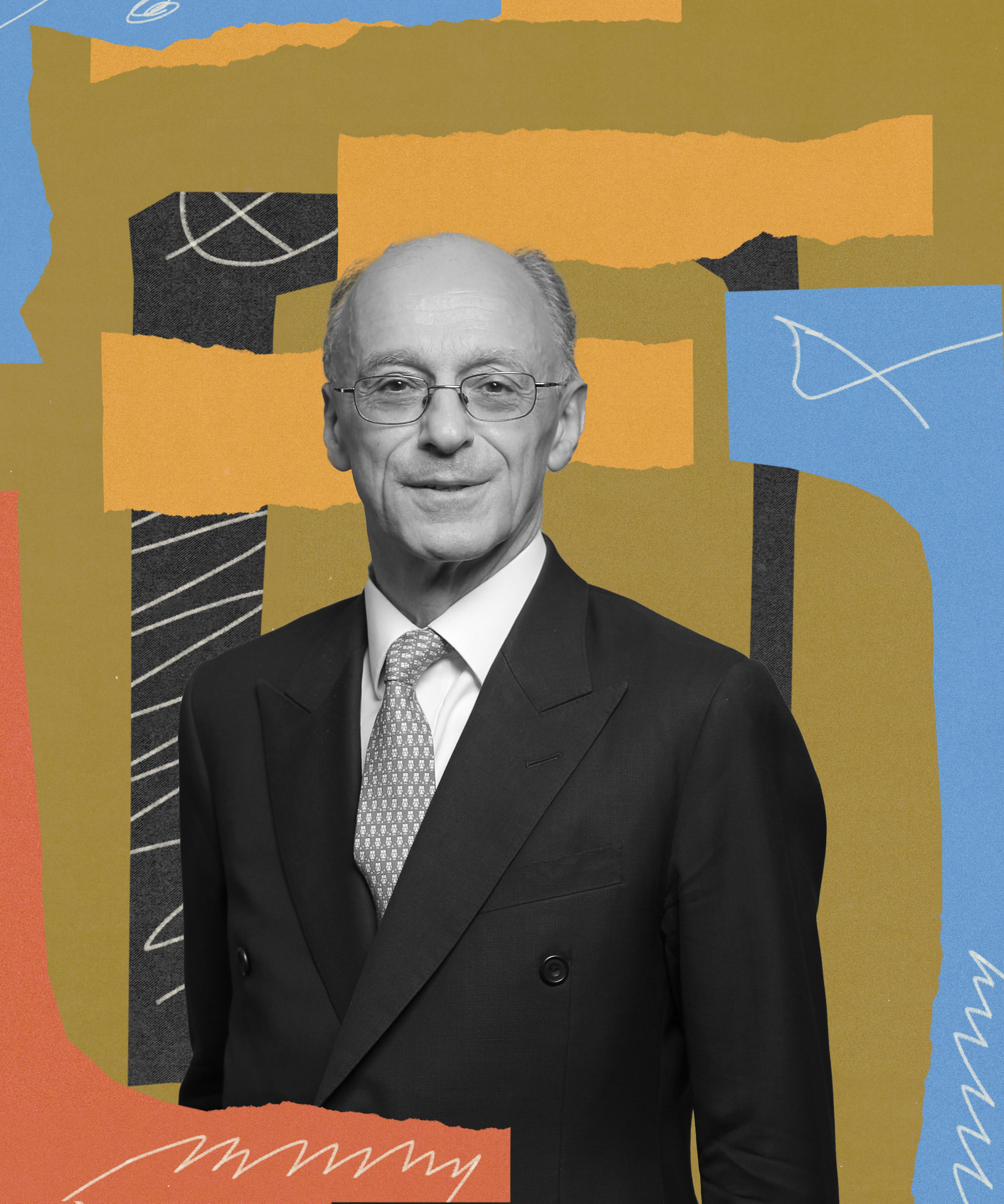 Abstract photo illustration of James Sassoon