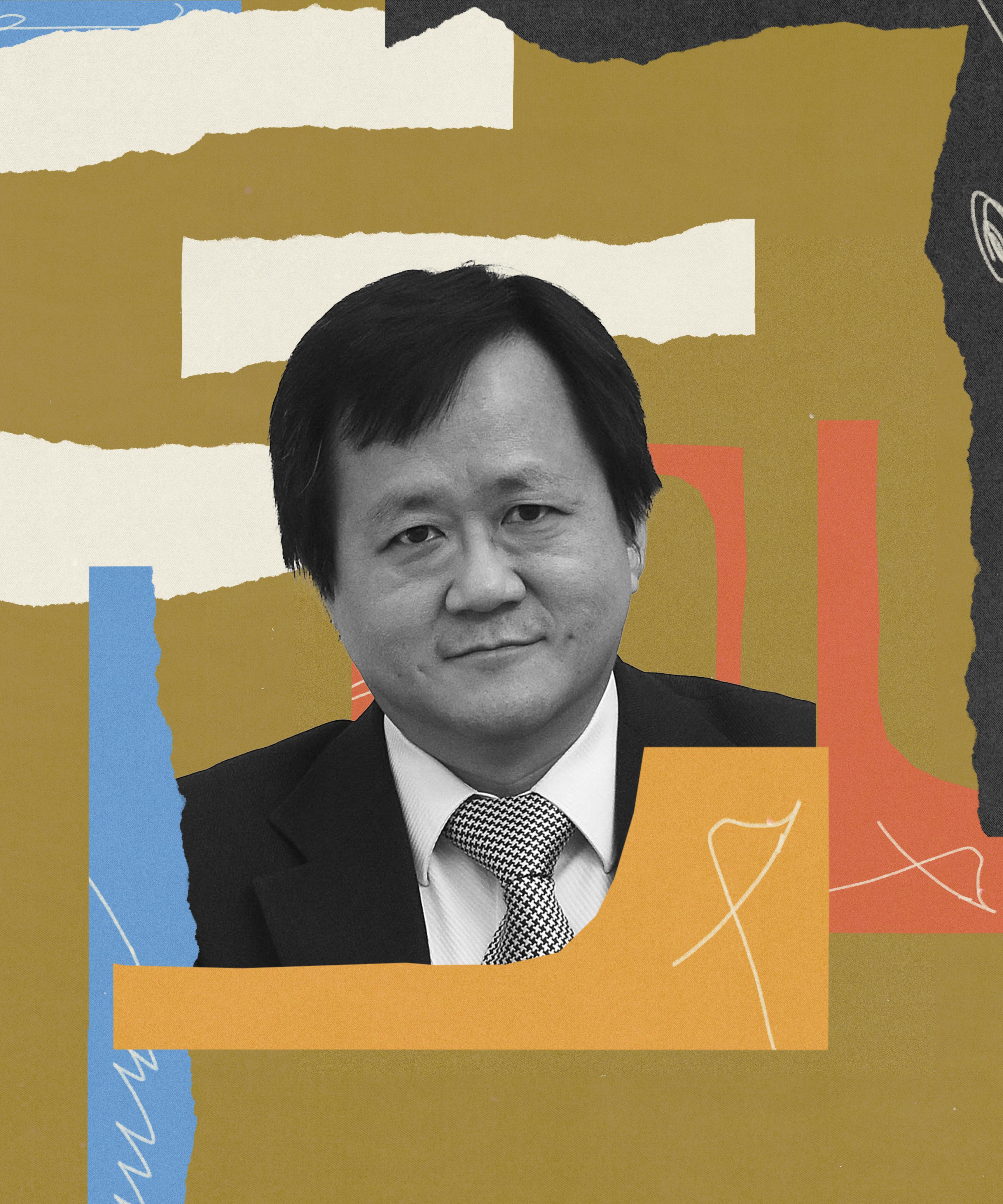 Abstract photo illustration of Steve Tsang