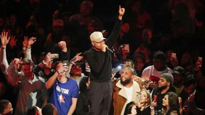 chance the rapper at the 2020 nba all-star game