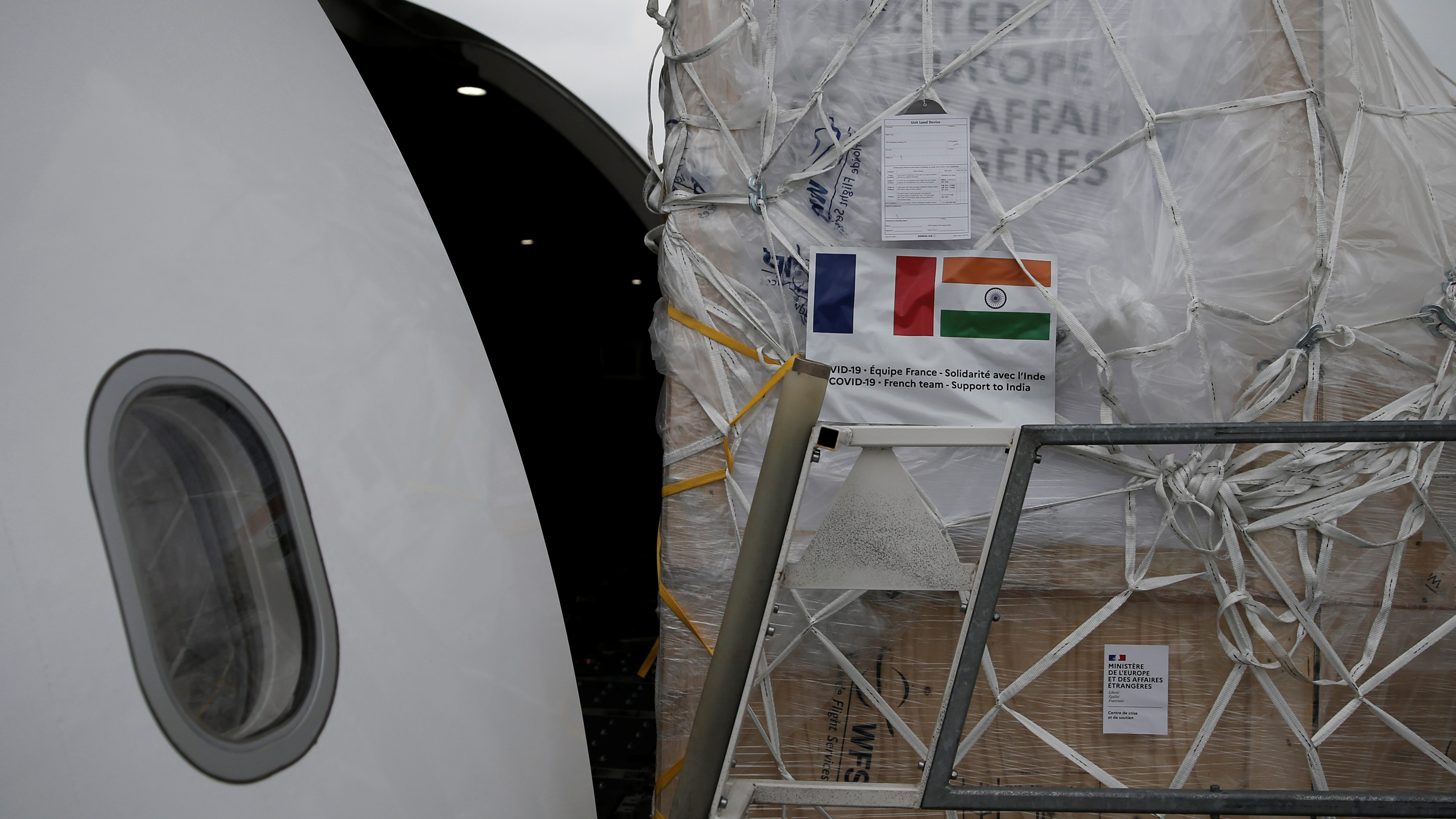 France sends medical equipment to India in COVID-19 crisis