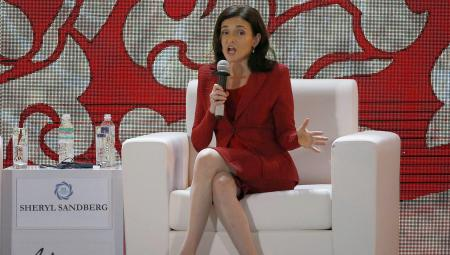 Facebook's Chief Operation Officer Sheryl Sandberg takes part in a dialogue during the APEC CEO Summit ahead of the Asia-Pacific Economic Cooperation (APEC) leaders summit in Danang, Vietnam, 10 November 2017.