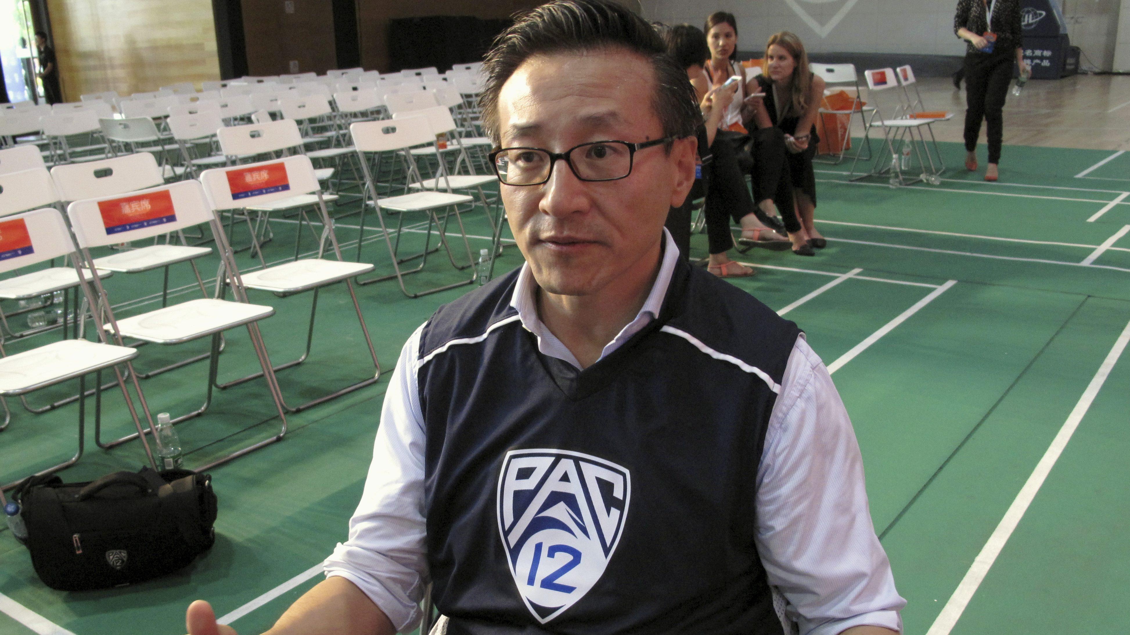 Tsai speaks during an in Hangzhou