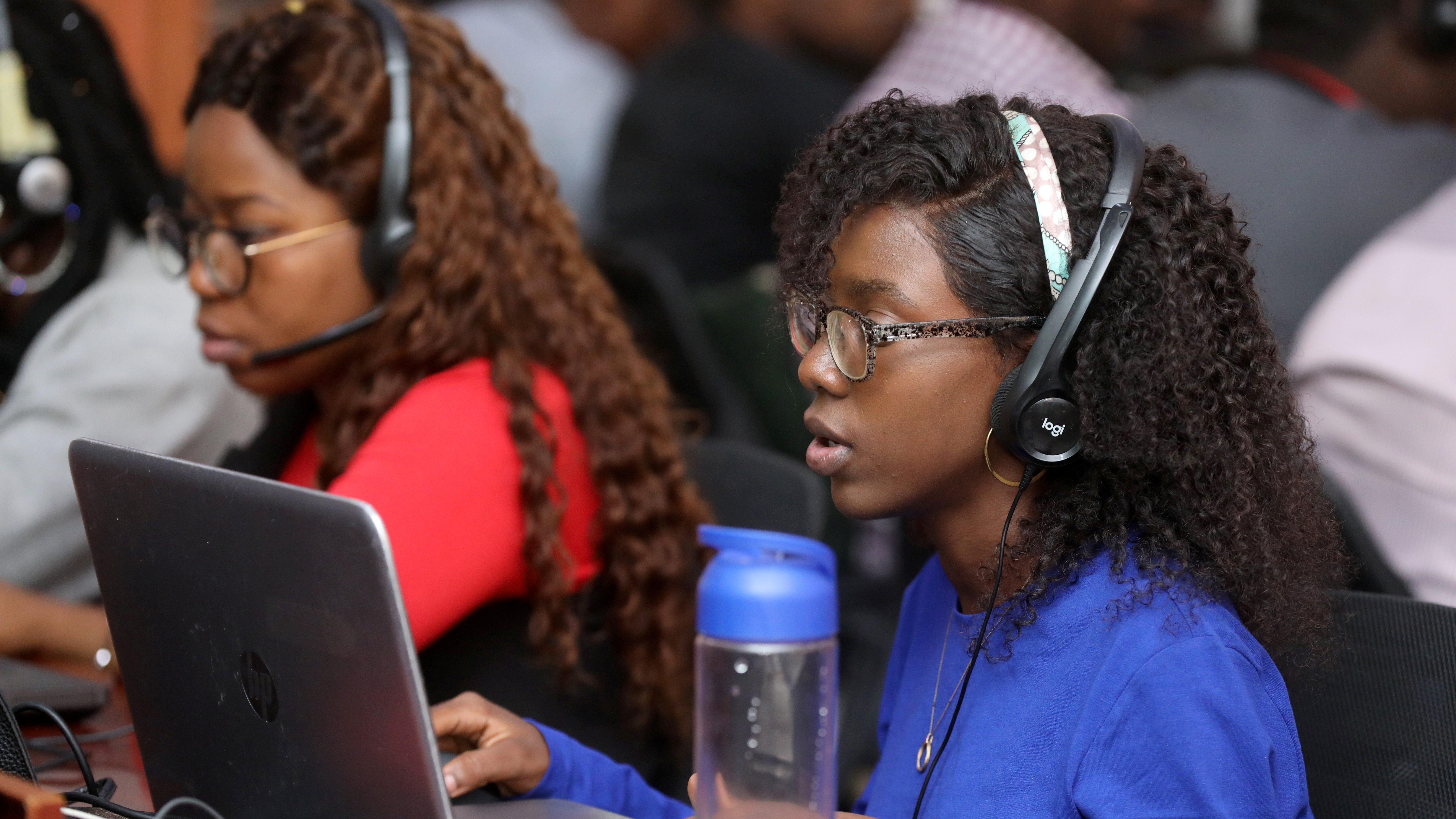 Jumia customer service agents in Lagos.